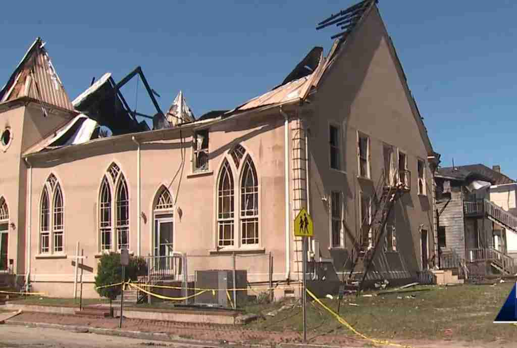 Baptist Church Destroyed