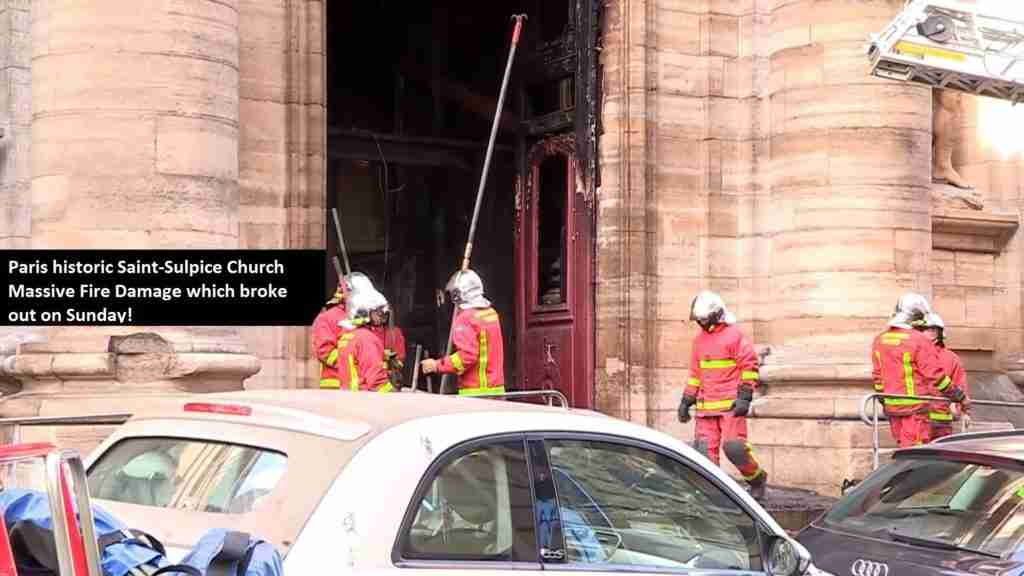 Paris St Sulpice Church Fire2