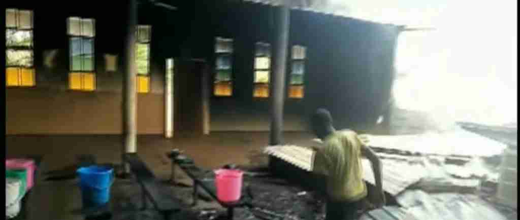 Wamba Church Fire4