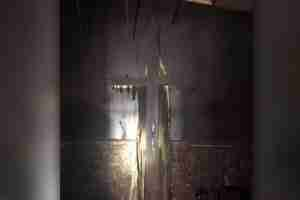 Church Cross Destroyed by Fire