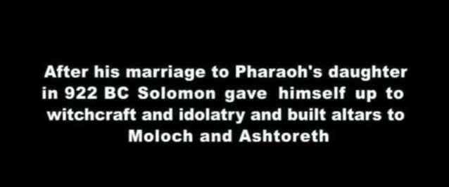 King Solomon Worship Moloch